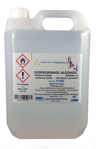 ISOPROPANOL ALCOHOL 15 LITRE SIZE 99.9% PURE